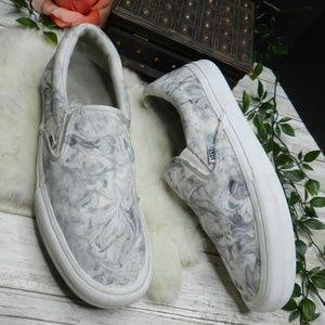 Vans Pro Slip-on Marble white Gray mens sneakers